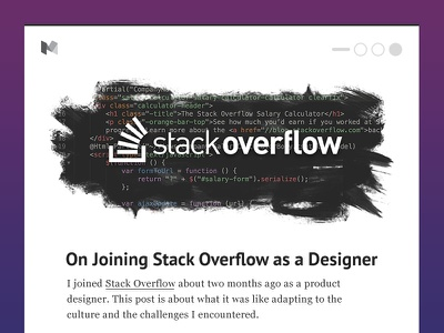 Article Mockup syntax code typography layout remote stack overflow medium blog article