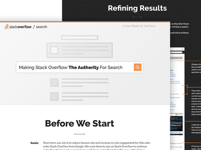 Design Test Project redesign concept ux test landing search results case study search stack overflow