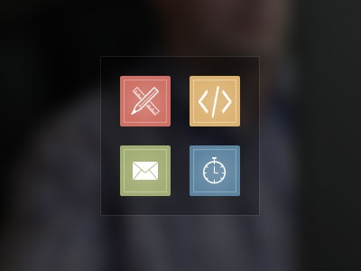 Skill Icons icon design code mail speed stopwatch glyph front end html email