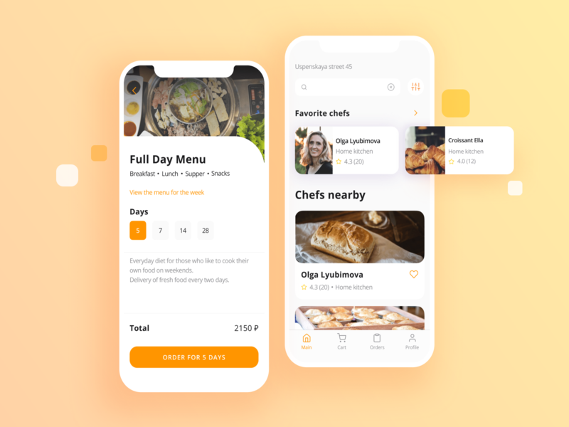 Food Delivery Mobile App design food app food app ux ui