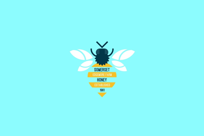 Somerset Honey vector icon illustration badge design logo branding