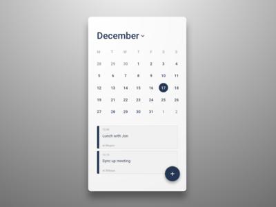Daily UI 038 Calendar calender daily ui 038 daily ui