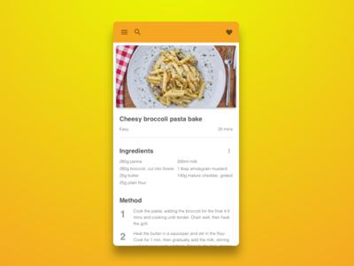 Daily UI 040 Recipe recipe dailyui 040 dailyui