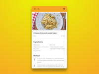 Daily UI 040 Recipe