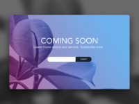 Daily UI 048 Coming Soon