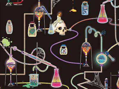 Mad Scientist Pattern halloween