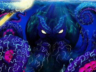 Lightning Kraken merch