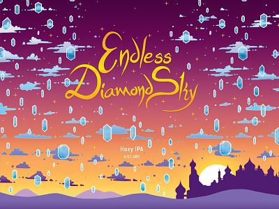 Endless Diamond Sky Beer Label branding