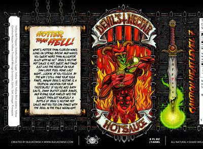 Devil's Nectar hot sauce label