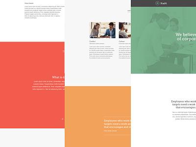 Landing Page Concept landing page website branding business consulting design website design wordpress logo design