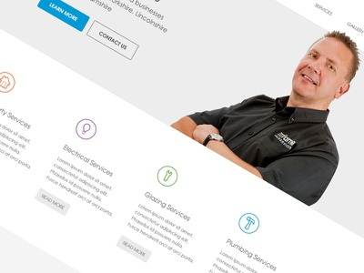 Emergency Services Homepage website design wordpress minimal clean website ux ui