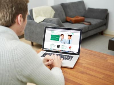 Website Business Insurance Design