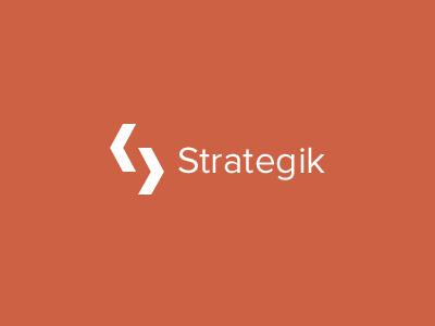 Strategik Logo branding logo design minimal clean icon s