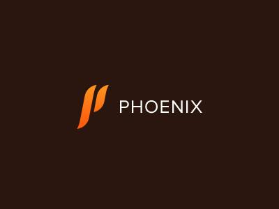 Phoenix Logo branding logo design minimal clean