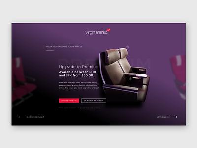 Exploration | Virgin Atlantic upgrade website web aviation visual ui visual design ui design
