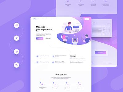 landing page for JustAsk.Me illustration web design webdesign ui ux
