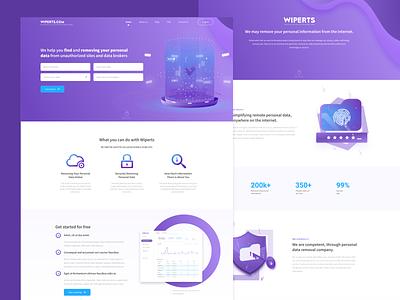 Marketing website & dashboard design for Wiperts web design illustration dashboard design website design ux ui