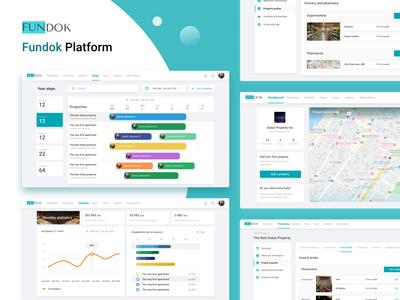 Platform and app design for Fundok app design platform design ui ux