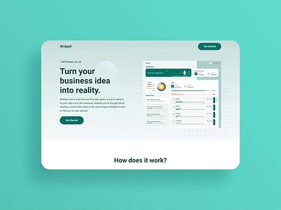 BridgeX app web app trend mvp saas website web ui ux design