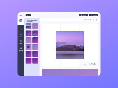 Online editor tool branding product mvp saas website web ui ux design