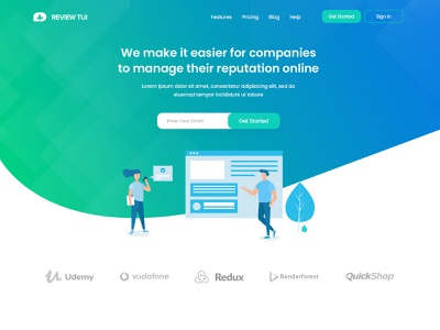 Review Tui - Homepage Design illustrations website web ux ui typography sketch photoshop minimal logo illustrator illustration graphic design design character branding