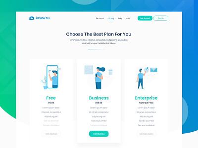Review Tui - Pricing clean identity website illustrations web vector photoshop ux logo illustrator illustration graphic design design ui