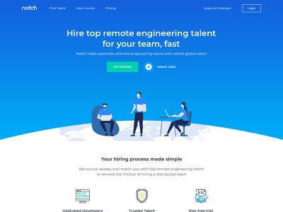 Notch - Homepage character clean sketch minimal illustrations vector illustrator website typography logo illustration graphic design web photoshop ux ui design