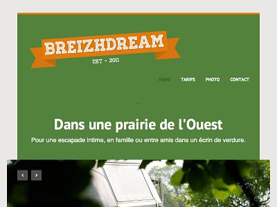 Breizhdream.fr Version Final logo typo ui site web homepage airstream design website