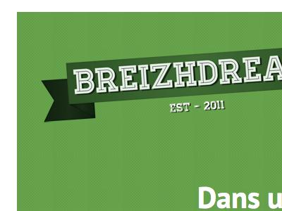 Breizhdream - Website breizh logo typo ui web site