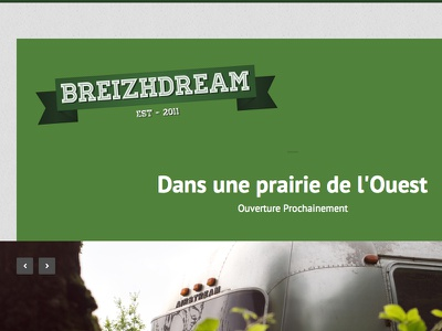 Breizhdream Soon green logo site typo web homepage