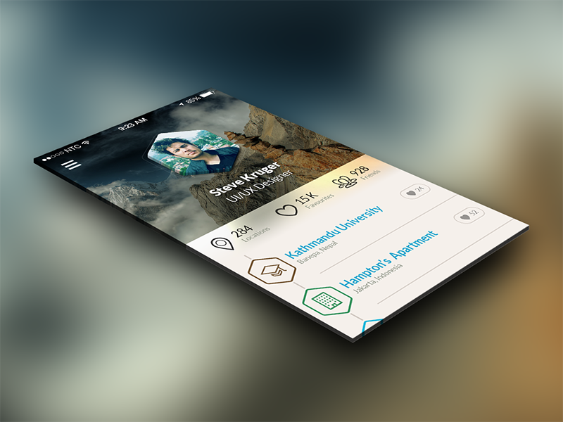 Utilizing some free time woof web studio app design freebie available for hire mobile ui ios app ui ios 7 profile design free design free psd mobile app