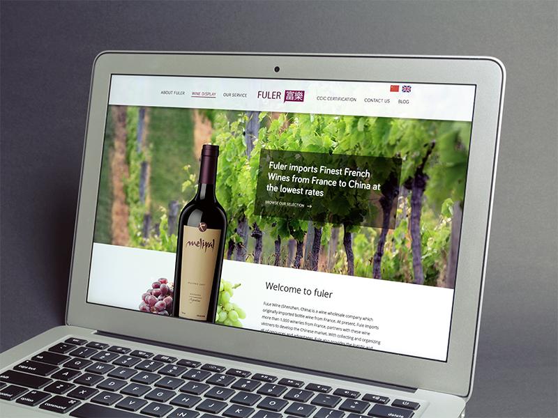 Website for Fuler Wine Whoesaler wine website ui clean bootstrap wordpress design woof web studio