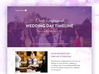 Landing page for wedding planning system