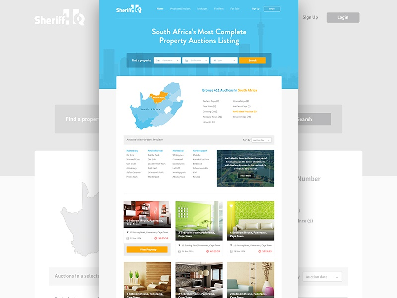 From Wireframe to Design psd africa classified design bootstrap branding blue auction listing ui wireframe