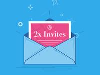 2x Dribbble Invites