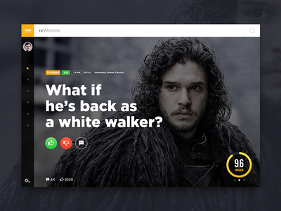 TV show poll concept game of thrones rating fantasy drama series movie responsive handsome