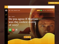 Movie Poll Concept Free PSD