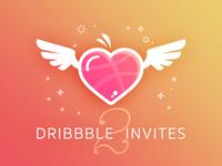 2x Dribbble Hearts