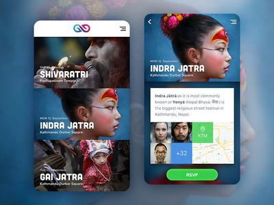 Event App Concept marketplace sketch ui clean design concept nepal material android app ios app event