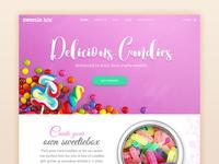 Candy box Landing page
