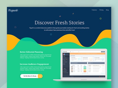 Homepage Redesign landing page application graphs chart blue material ux ui redesign homepage