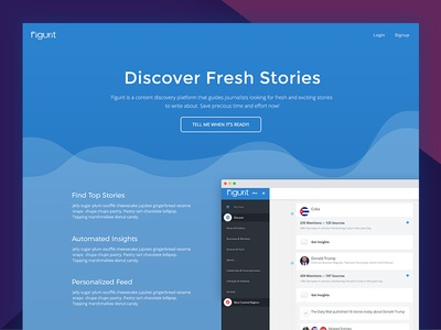 Figurit Homepage Redesign ux ui redesign material landing page homepage graphs chart blue application