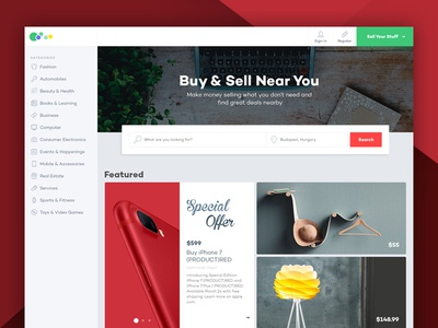 Classified Site Redesign modern layout redesign homepage classified ads buy and sell ux ui website classified