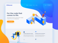 Bitbucket Redesign Concept colors creative illustrations blue modern ui interface design bitbucket