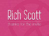 Thanks Rich Scott