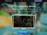 PhotoGroupr's new homepage Draft