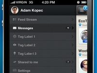 Menu for IOS App