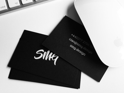 White Ink Business Cards print business cards design black black and white white white-ink