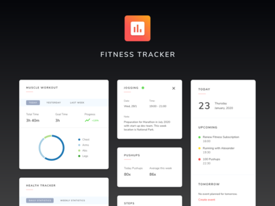 UI Components - Fitness Tracker