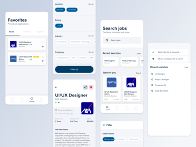 Mobile App Concept - Vacancy Application, UI/UX Redesign